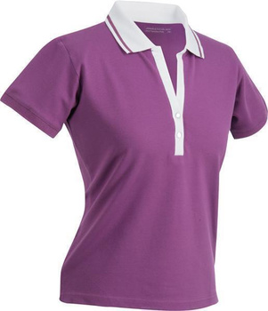 Damen Poloshirt ~ purple/weiß M