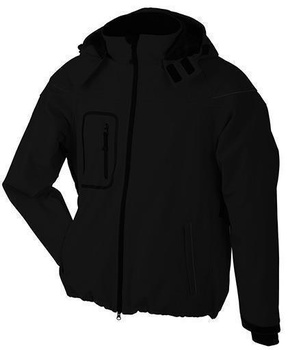 Herren Winter Softshelljacke ~ schwarz S