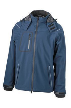 Herren Winter Softshelljacke ~ navy M