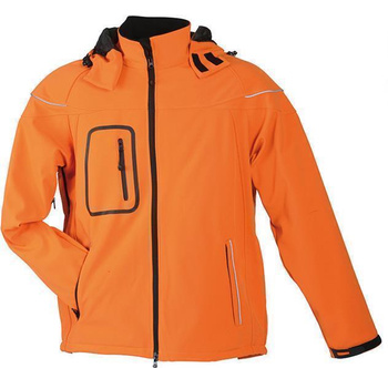 Herren Winter Softshelljacke ~ orange M