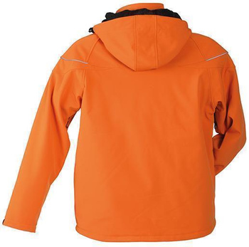 Herren Winter Softshelljacke ~ orange XXL