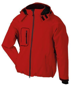 Herren Winter Softshelljacke ~ rot S