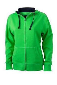 Ladies Lifestyle Zip-Hoody ~ grün/navy XXL