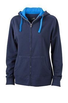 Ladies Lifestyle Zip-Hoody ~ navy/cobalt XXL