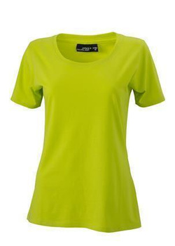 Damen T-Shirt mit Single-Jersey ~ acid-gelb S