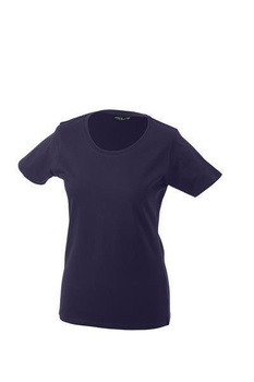 Damen T-Shirt mit Single-Jersey ~ aubergine L