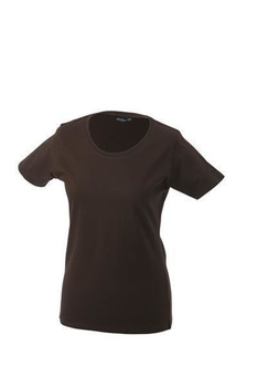 Damen T-Shirt mit Single-Jersey ~ braun XL