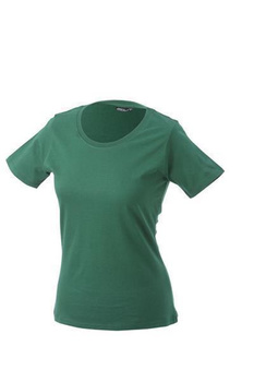 Damen T-Shirt mit Single-Jersey ~ dunkelgrün S