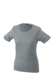 Damen T-Shirt mit Single-Jersey ~ dunkelgrau L