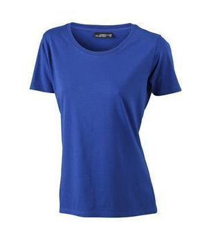 Damen T-Shirt mit Single-Jersey ~ dunkel-royal M