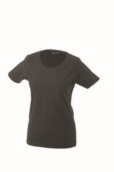 Damen T-Shirt mit Single-Jersey ~ graphite L