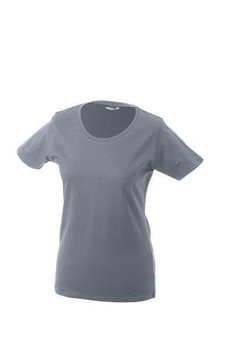 Damen T-Shirt mit Single-Jersey ~ heathergrau S