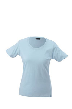 Damen T-Shirt mit Single-Jersey ~ hellblau M