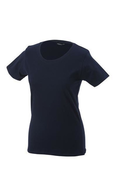 Damen T-Shirt mit Single-Jersey ~ navy 3XL