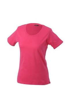 Damen T-Shirt mit Single-Jersey ~ pink S