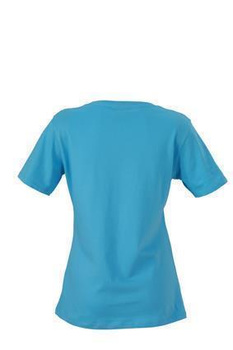 Damen T-Shirt mit Single-Jersey ~ himmelblau XXL