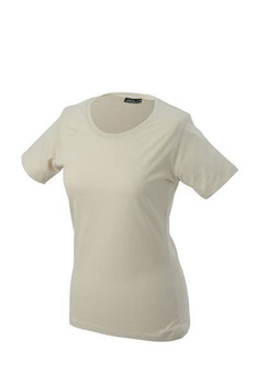 Damen T-Shirt mit Single-Jersey ~ stone XL