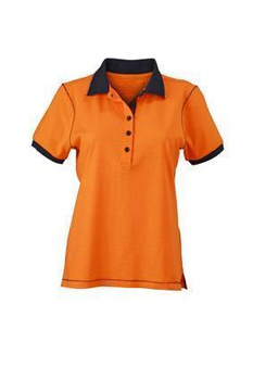 Damen Poloshirt Urban ~ orange/navy L