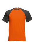 Short sleeve Baseball T-Shirt von Fruit of the Loom