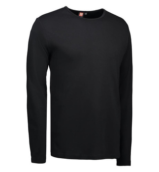 Interlock T-Shirt | langarm ~ Schwarz M