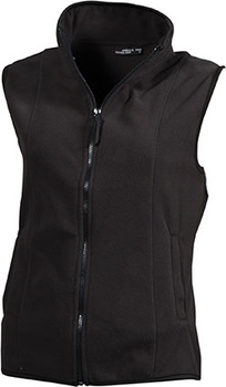 Damen Fleece Weste ~ dunkelgrau M
