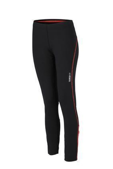 Ladies Running Tights ~ black/tomato S
