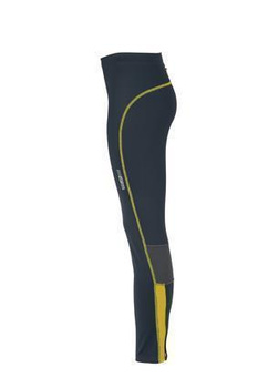 Ladies Running Tights ~ iron-grey/lemon L