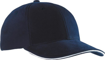 6 Panel Sandwich Cap ~ navy/weiß