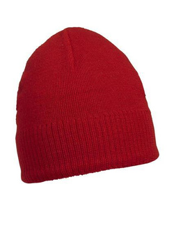 Knitted Beanie with Fleece Inset ~ rot