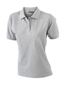 Damen Poloshirt Classic ~ grau-heather S