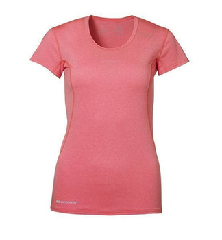 Woman Active S/S T-shirt ~ Orange melange 2XL