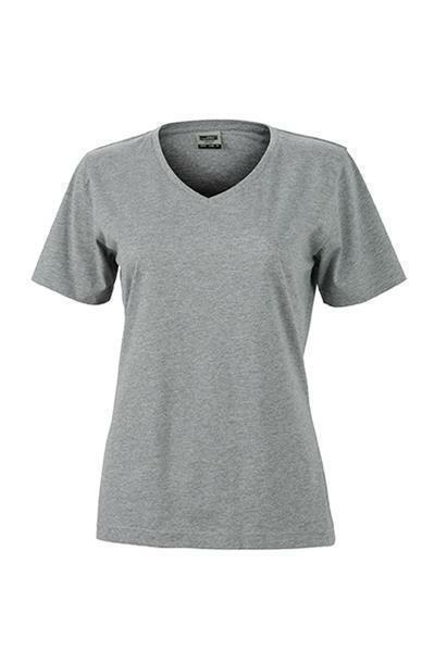 damen arbeits t shirt grau heather xxl. Black Bedroom Furniture Sets. Home Design Ideas
