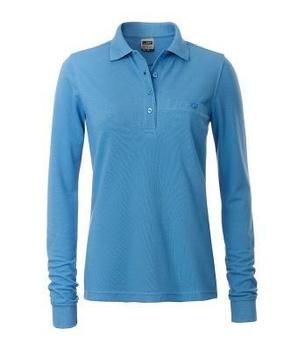 2ee881cb3b7416 Damen Arbeits Langarm Poloshirt mit Brusttasche, 20,90 €