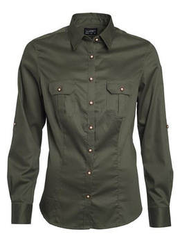 Damen Traditional Shirt Bluse ~ olive XS