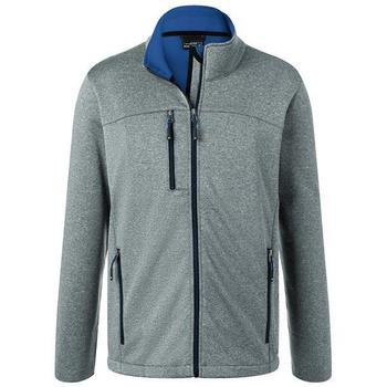 Herren Softshelljacke in Melange-Optik