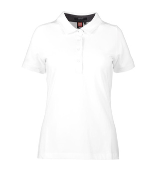 Business Damen Poloshirt | Stretch ~ weiß M