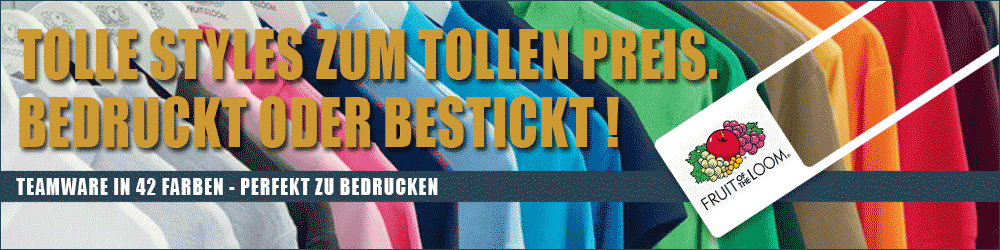 Fruit of the Loom - Teambekleidung