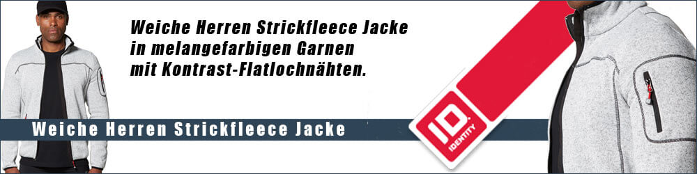 Weiche Herren Strickfleece Jacke