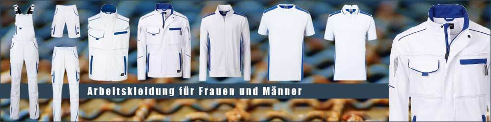 Arbeitskleidung in Weiß